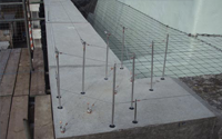Post and wire bird proofing
